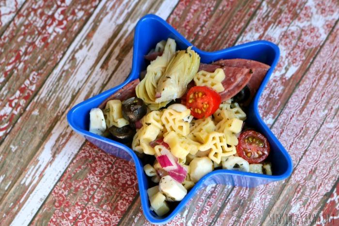 Easy Antipasto Pasta Salad Recipe | SensiblySara.com