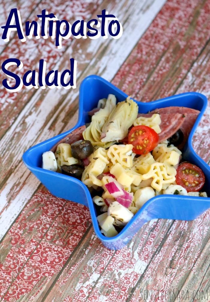 Antipasto Pasta Salad Recipe | SensiblySara.com