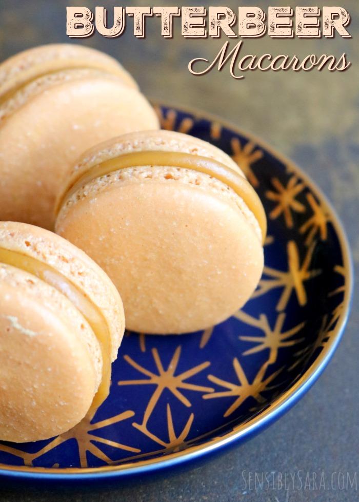 Butterbeer Macarons Recipe | SensiblySara.com