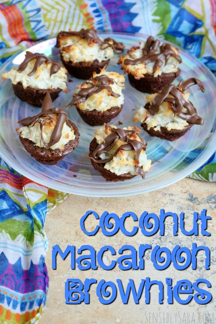 Coconut Macaroon Brownies Recipe | SensiblySara.com