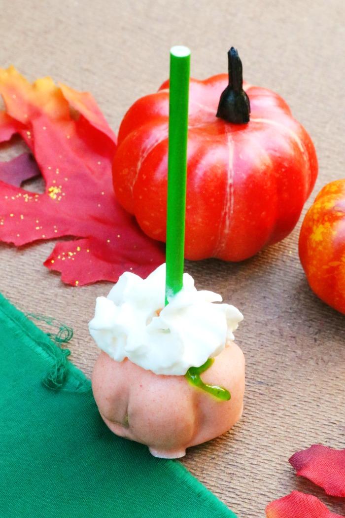Pumpkin Cake Pops - Steps 11-14 | SensiblySara.com