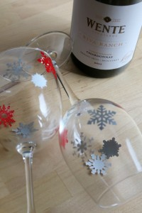 Wente Wine and Decorated Wine Glasses Make the Perfect Hostess Gift