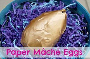Paper Mâché Easter Eggs {#DIY #Craft}