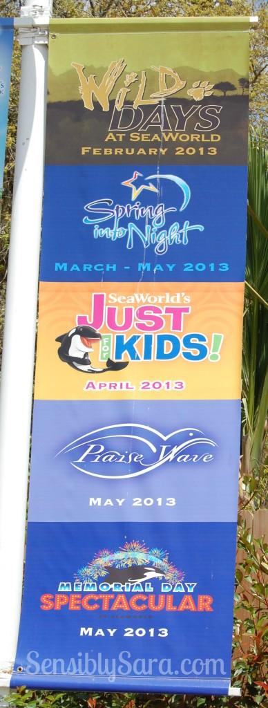 Sea World San Antonio Events Banner
