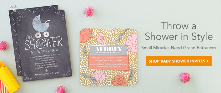 Tiny Prints Baby Shower Invitations and Baby Announcements