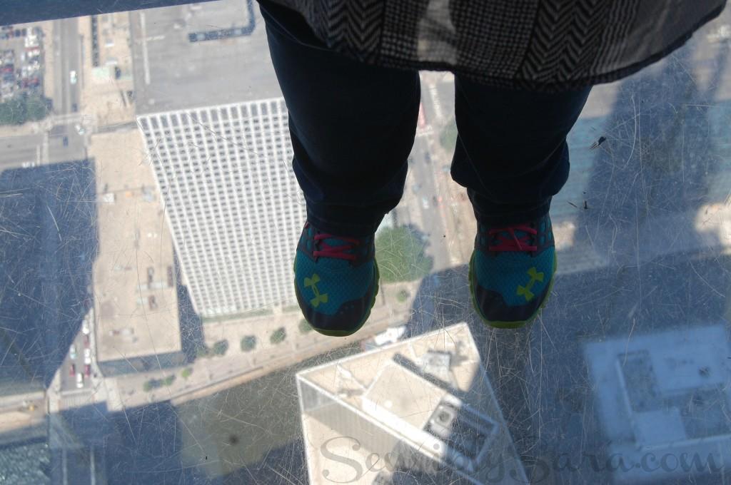 Sara's feet on the SkyDeck   SensiblySara.com