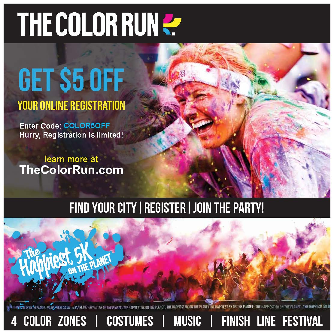 Ft Lauderdale Color Run 5k Offers For Nsu Community Please Use The P Code Colornova13 At Checkout