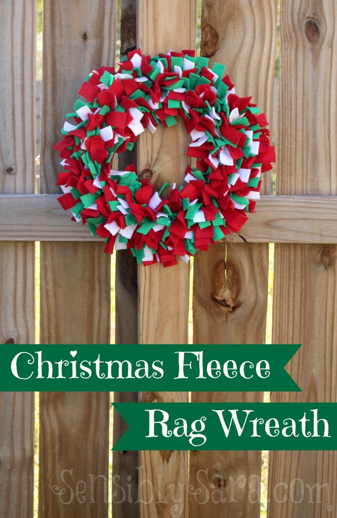 Christmas Fleece Rag Wreath