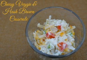 Cheesy Veggie & Hash Browns Casserole #Recipe #OreIdaHashBrn #CBias