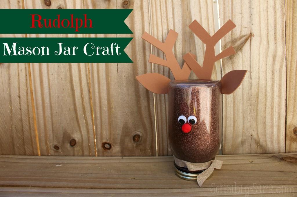 Rudolph Mason Jar Craft | SensiblySara.com