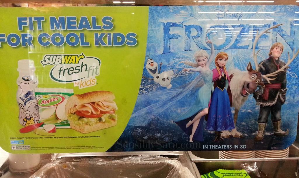 Subway FROZEN Fresh Fit Kids Meal #shop | SensiblySara.com