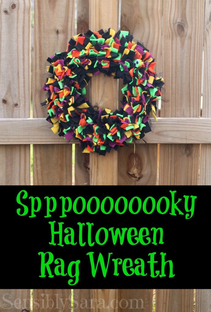Craft Spppooookkkyyy Halloween Rag Wreath