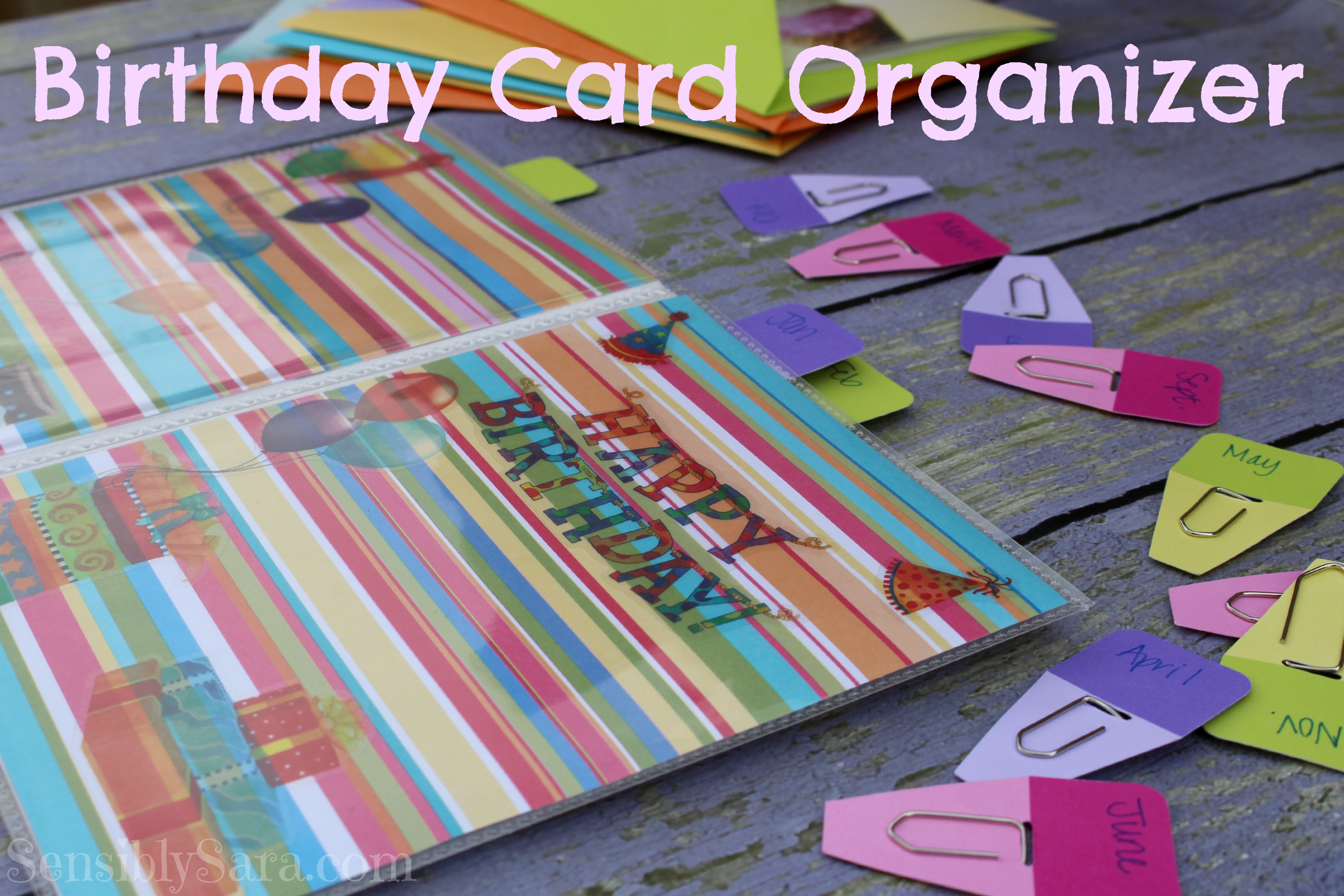 Birthday Card Organizer Shop
