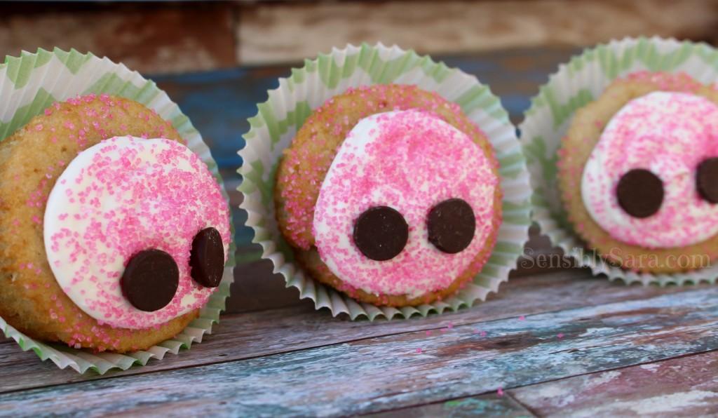 Piggy Nose Cupcakes | SensiblySara.com