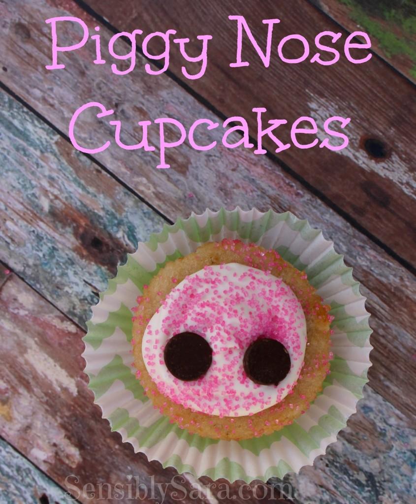 Piggy Nose Cupcakes
