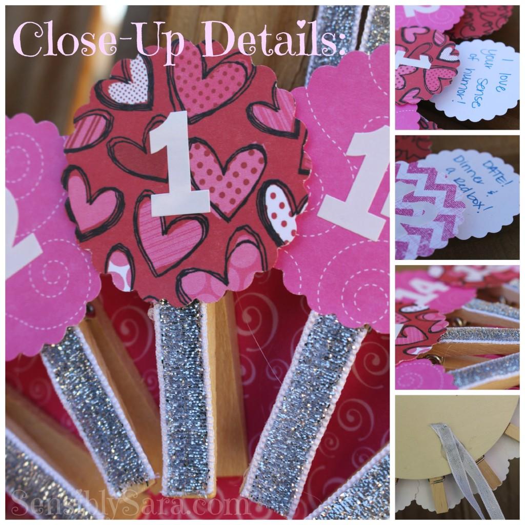 Valentine's Advent Wheel Details | SensiblySara.com