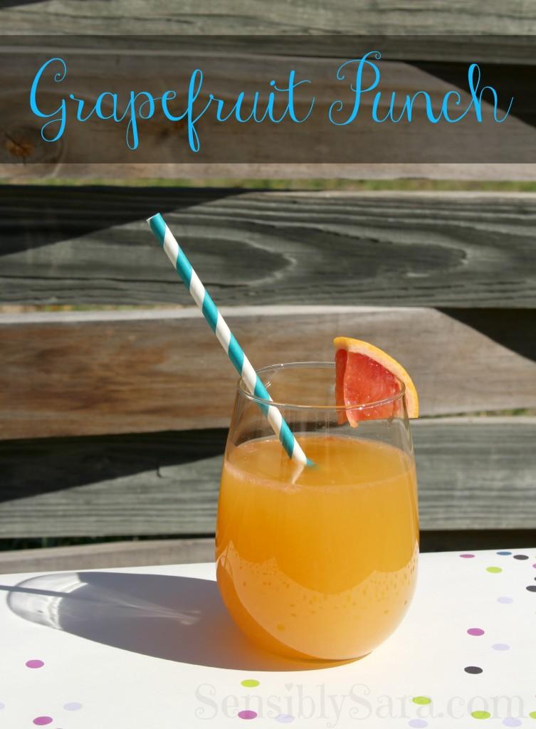 Grapefruit Punch | SensiblySara.com
