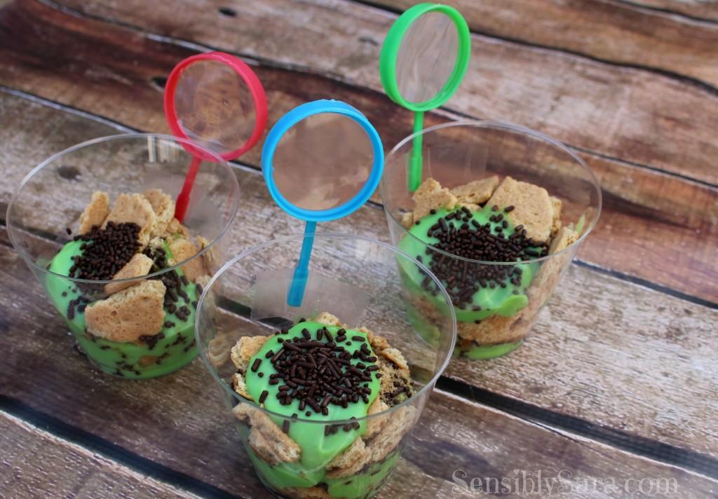 Bug Pudding Cups | SensiblySara.com