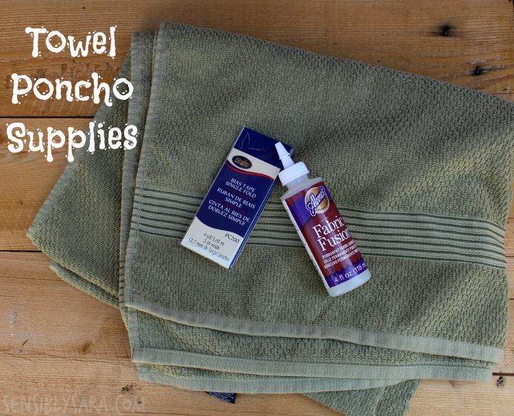Towel Poncho Supplies | SensiblySara.com