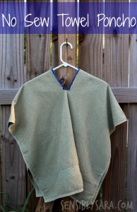 DIY: No Sew Towel Poncho – Great for Summer!