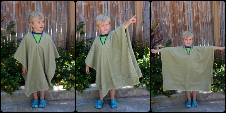 Towel Poncho Collage | SensiblySara.com