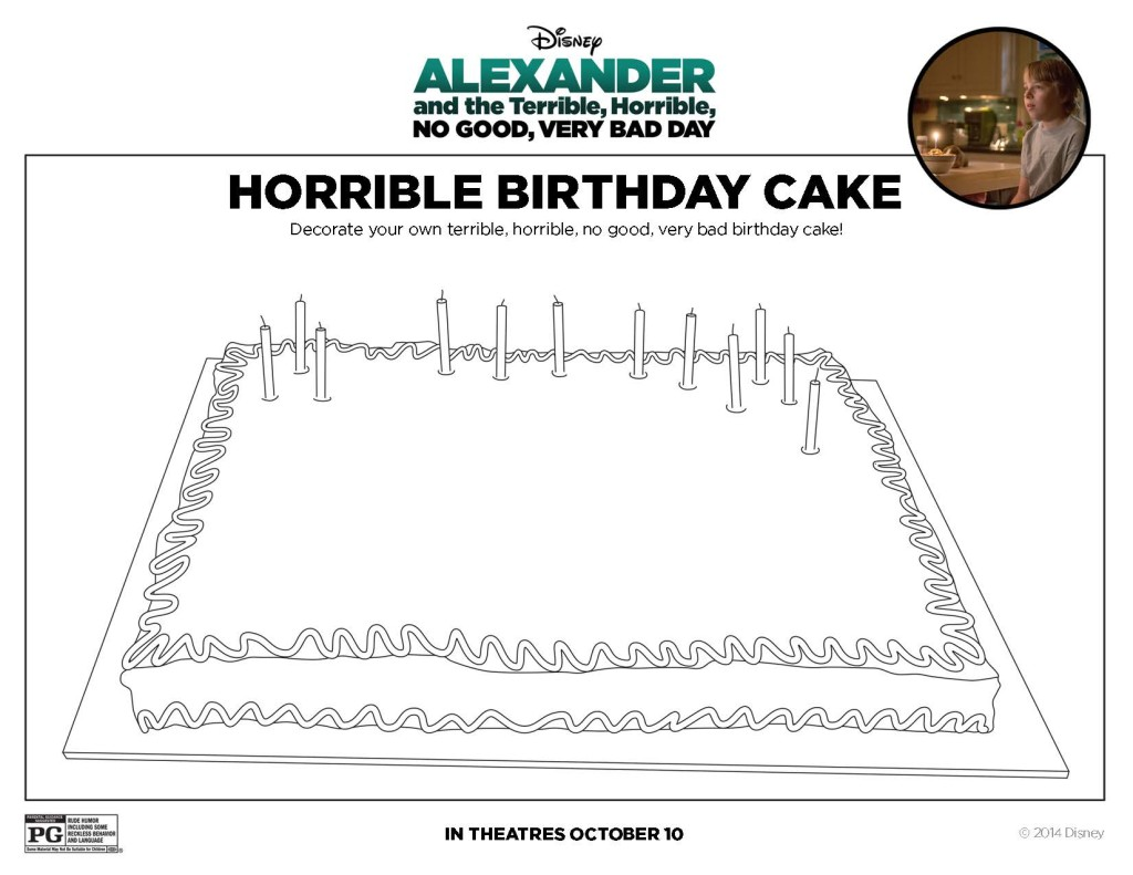 Alexander Birthday Cake Printable