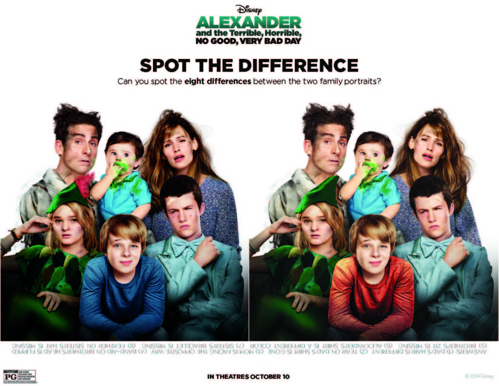 Alexander Spot the Difference Printable