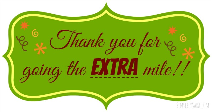 photo about Thanks for Going the Extra Mile Printable named Deliver a small further this trip year with More gum