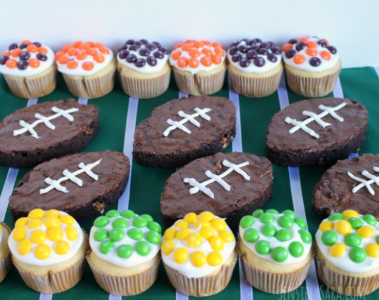 Snickers Brownies and Skittles Cupcakes #shop | SensiblySara.com