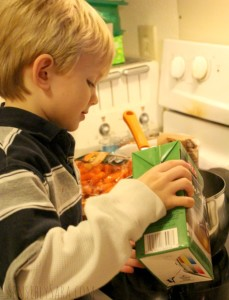 Kids in the Kitchen: Chicken Orzo Soup