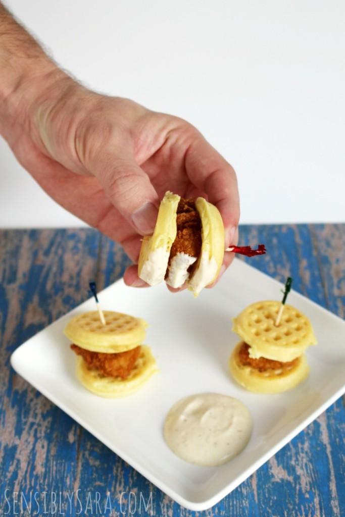 Chicken and Waffles | SensiblySara.com