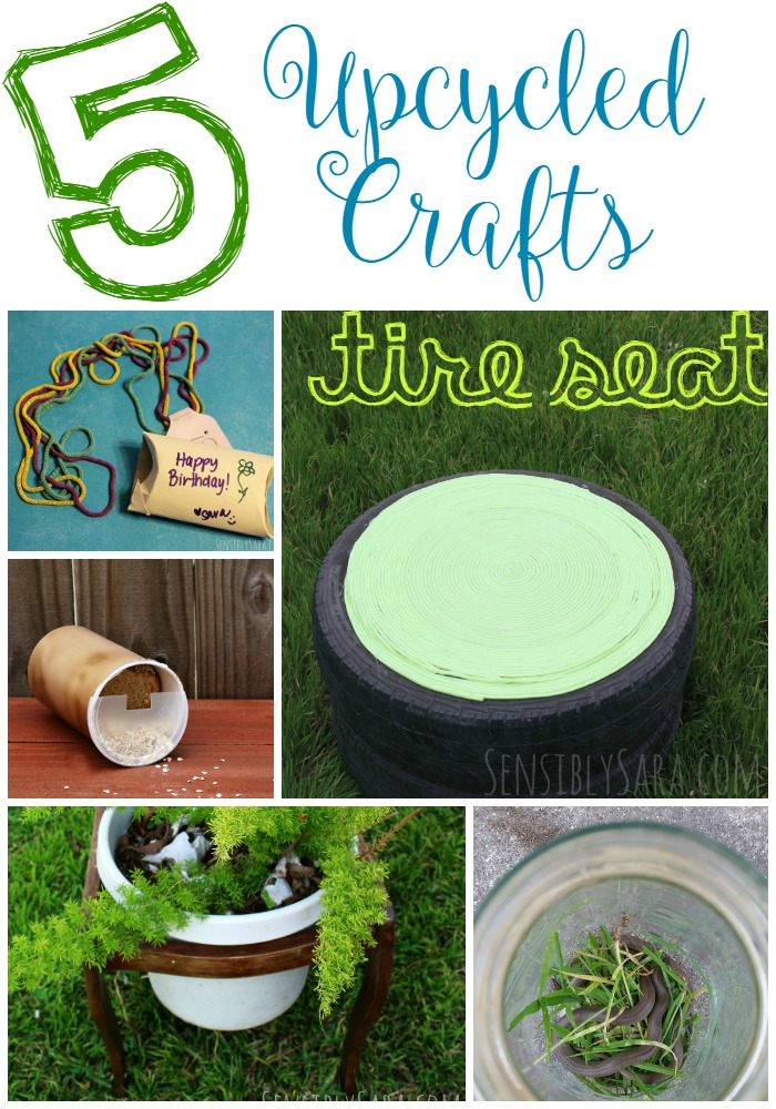 5 Upcycled Crafts | SensiblySara.com