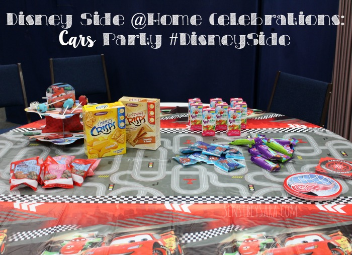 Disney Side @Home Celebrations: Cars Party #DisneySide | SensiblySara.com
