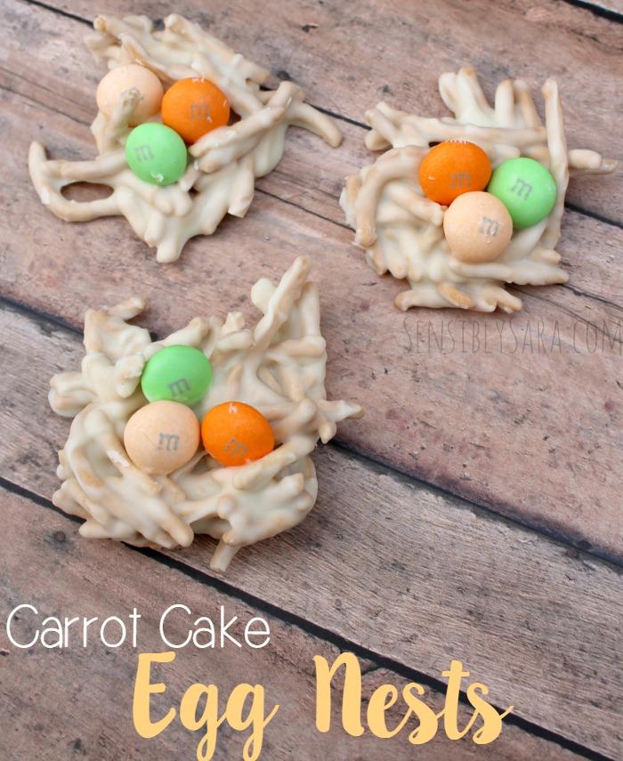 Carrot Cake Egg Nests Easter Dessert Recipe
