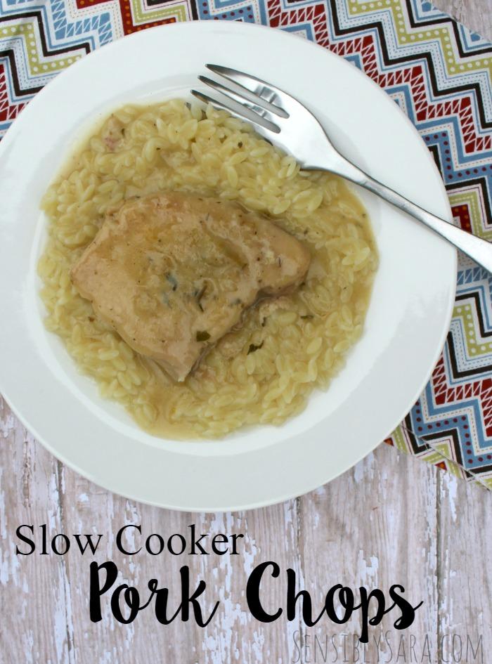 Slow Cooker Pork Chops Recipe | SensiblySara.com