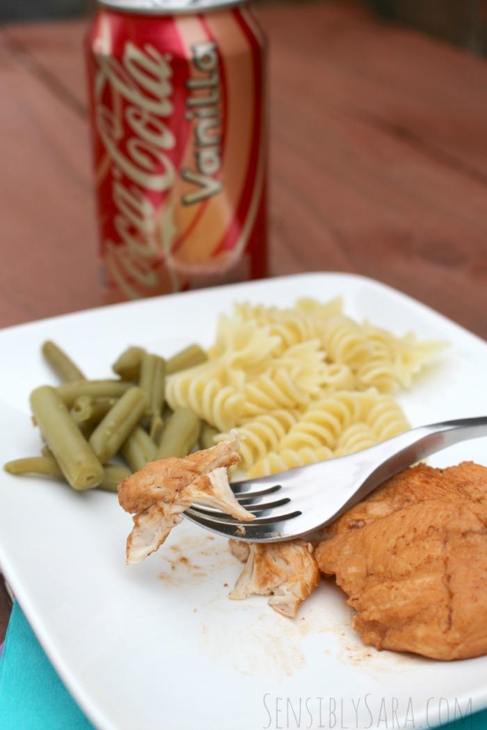 Vanilla Coke BBQ Chicken Recipe | SensiblySara.com