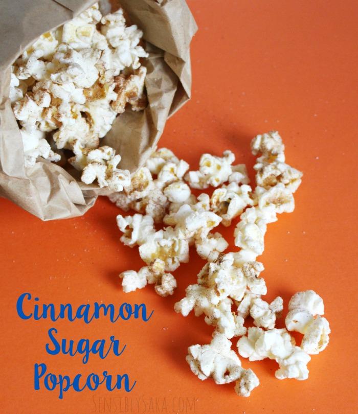 Cinnamon Sugar Popcorn | SensiblySara.com