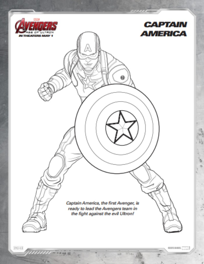 Printable Disney Activity Sheets for Avengers: Age of Ultron