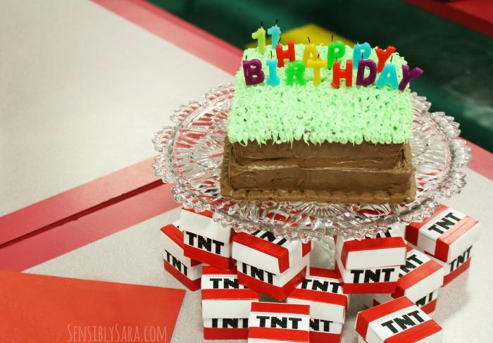 Easy Minecraft Cake | SensiblySara.com