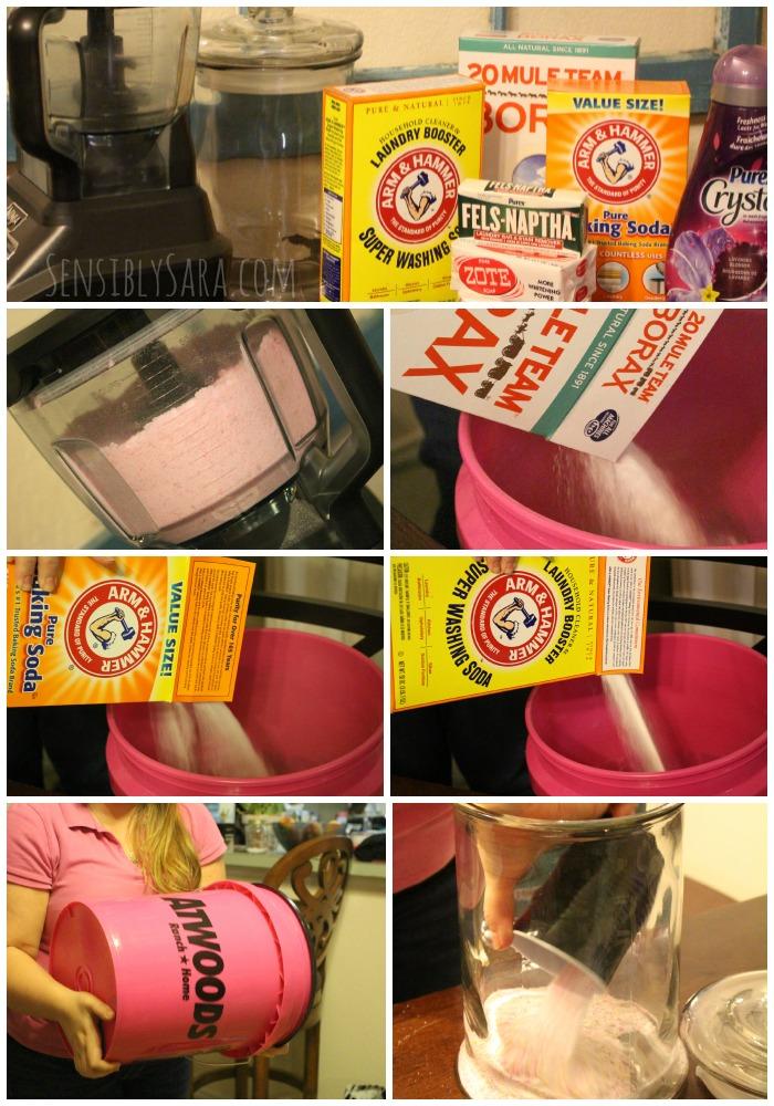 Homemade Detergent Collage | SensiblySara.com