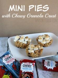 Mini Pies with Chewy Granola Bar Crust [AD] #MARVELSnackBar
