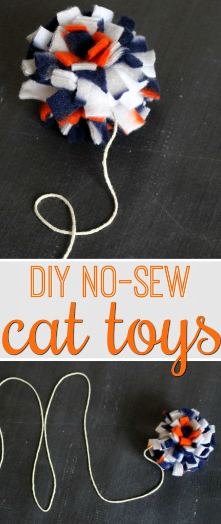 Simple DIY No Sew Cat Toy Tutorial | SensiblySara.com