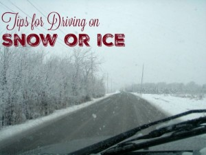 Tips for Driving on Snow or Ice