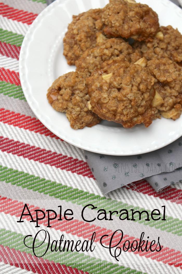 Apple Caramel Oatmeal Cookies   SensiblySara.com
