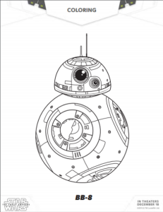 Star Wars: The Force Awakens Printable Coloring Sheets