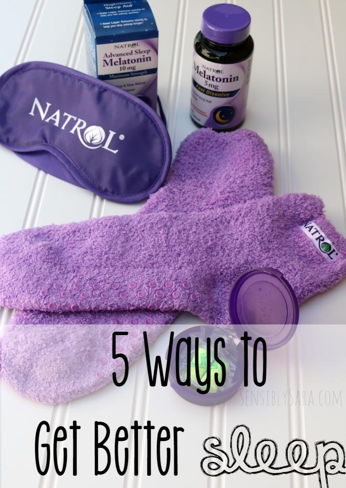 5 Ways to Get Better Sleep | SensiblySara.com