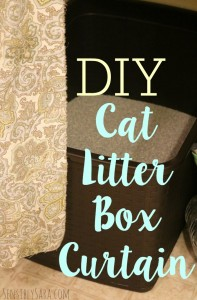 DIY No-Sew Cat Litter Box Curtain [AD] #YouGottaBeKittenMe