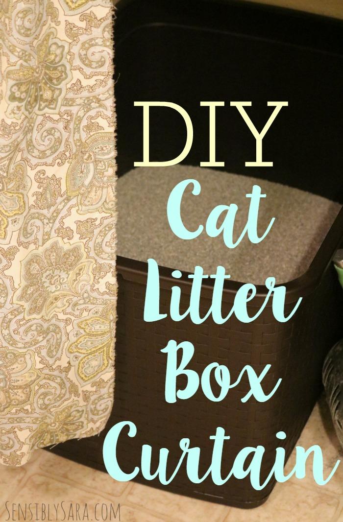 DIY Cat Litter Box Curtain   SensiblySara.com