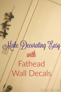Make Decorating Easy with Fathead Wall Decals [AD] #PeelStickDone