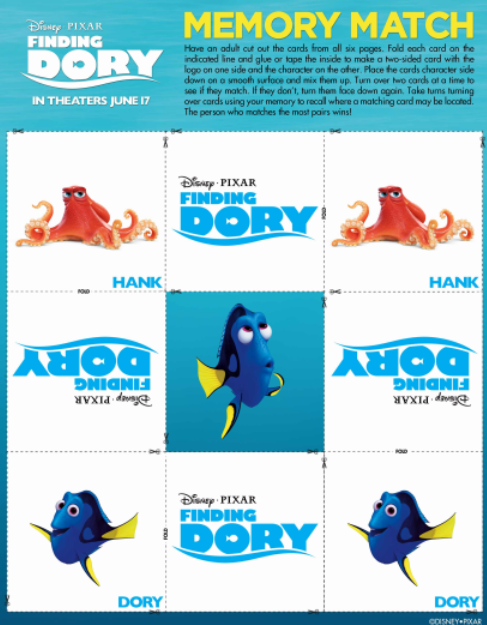 Finding Dory Memory Game